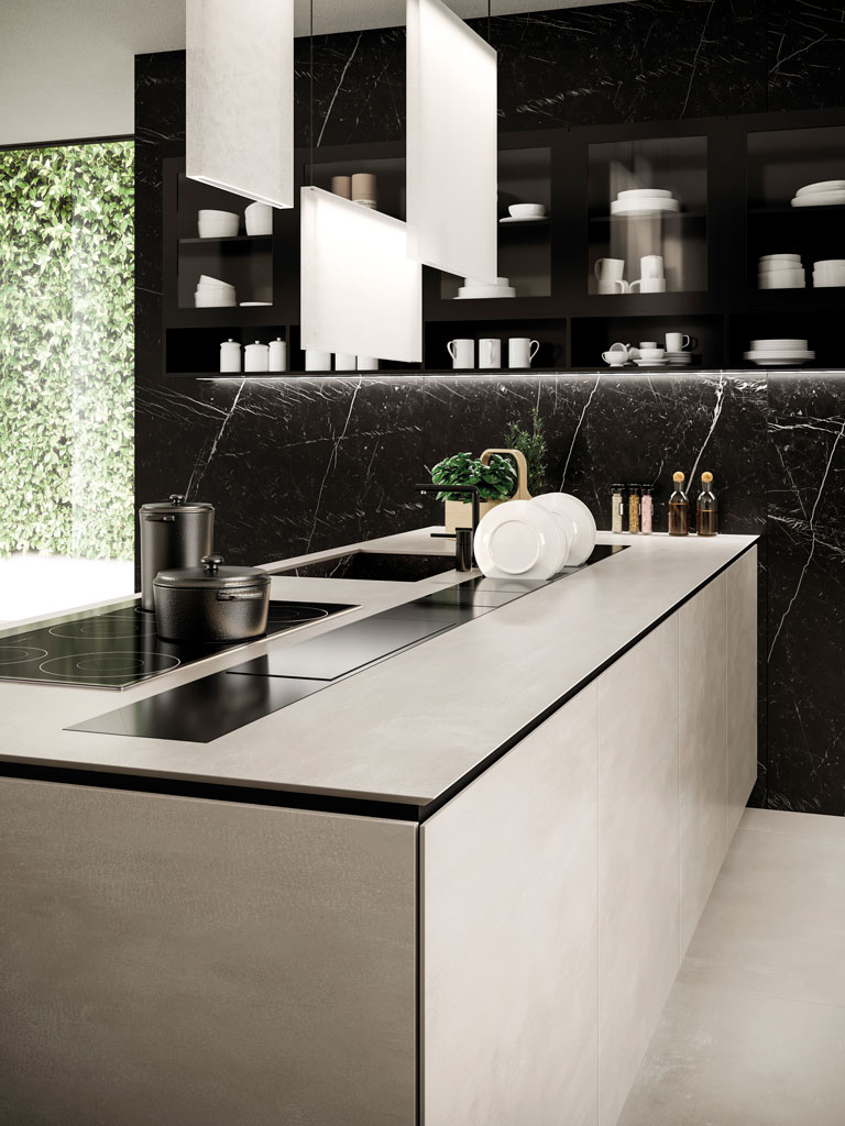 kitchen-peninsula-countertop-concrete-look-tiles