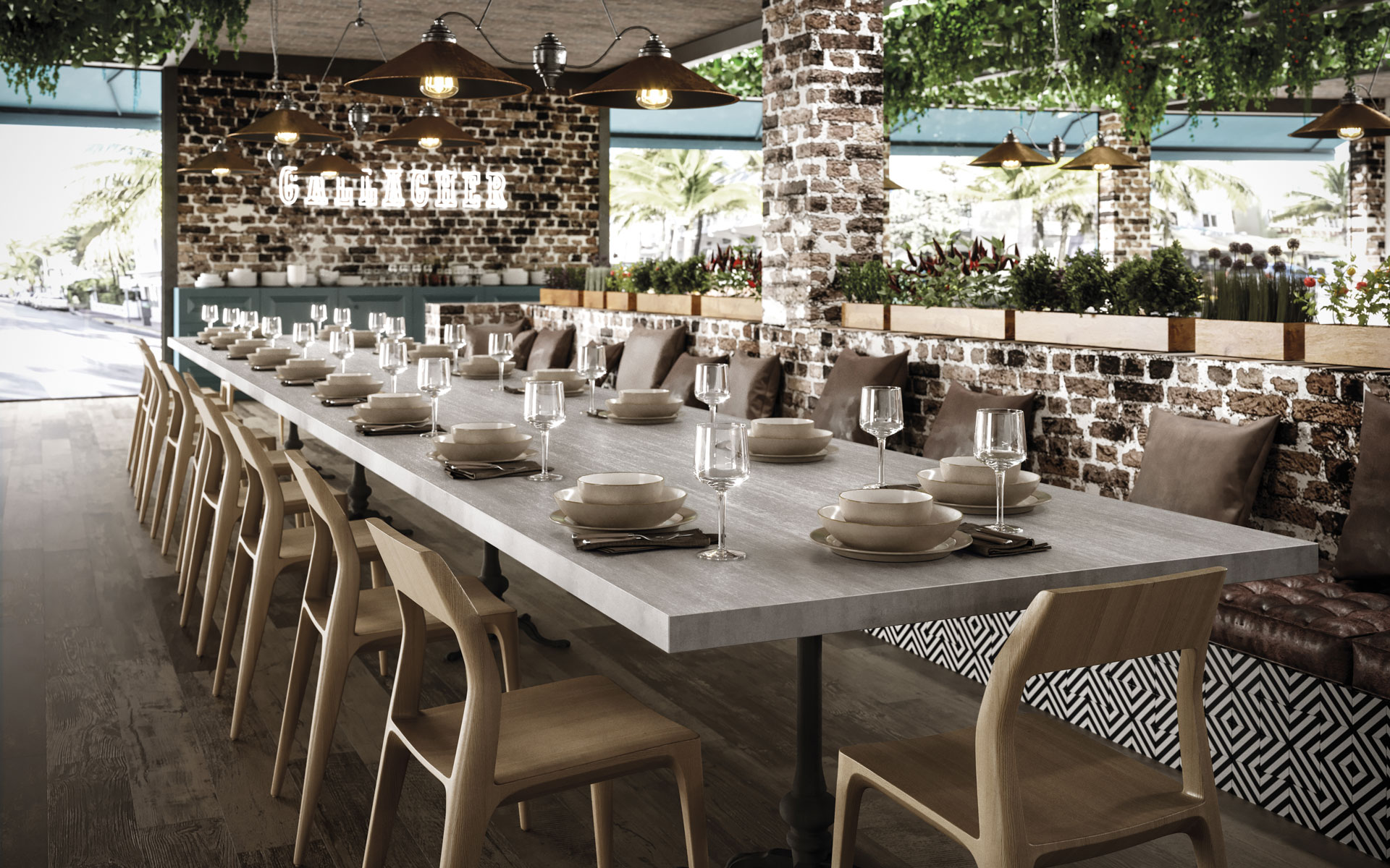 metal-look-large-size-porcelain-tiles-for-restaurant-tables